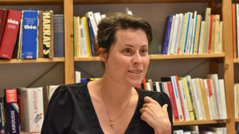 Morgane Madi-Droxler dans les bureaux de Cath-info | © Maurice Page