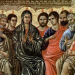 La pentecôte, rétable de la cathédrale de Sienne. Duccio di Buoninsegna, tempera sur bois, 1308-1311   © Wiki media commons.