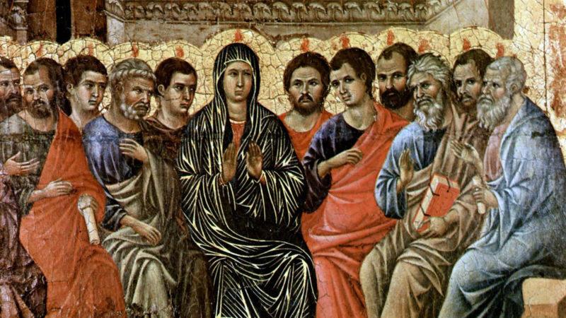 La pentecôte, rétable de la cathédrale de Sienne. Duccio di Buoninsegna, tempera sur bois, 1308-1311 | © Wiki media commons.