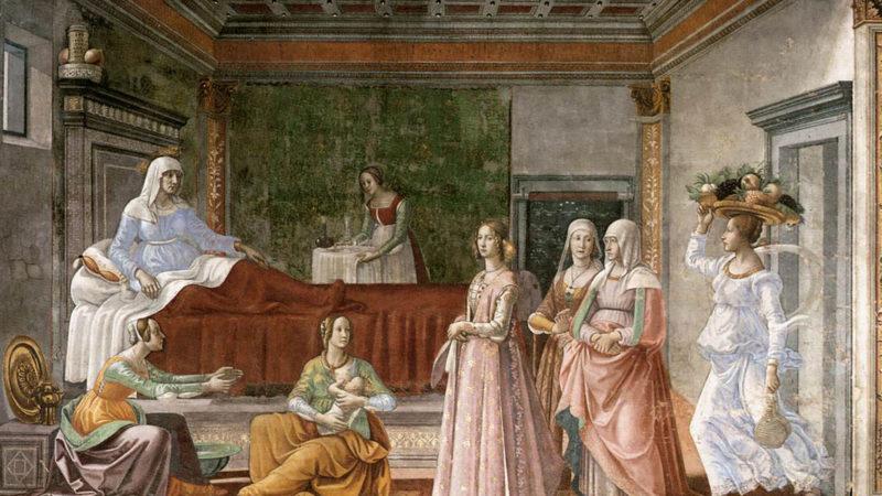 Niassance de Siaint-Jean Baptiste. Ghirlandaio Domenico. Entre 1486 et 1490. | Wikimedia Commons.