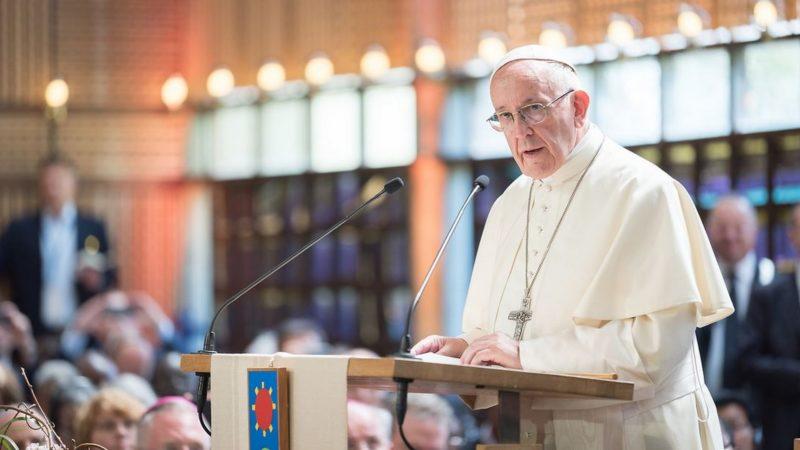 Le pape François s'exprime devant les membres du COE à Genève | © WCC Albin Hillert