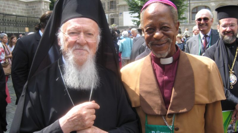 Bartholomée Ier avec Mgr Jean Baudouin Mikenyi Kayuwa, de l'Eglise du Christ au Congo ¦ © Bernard Litzler