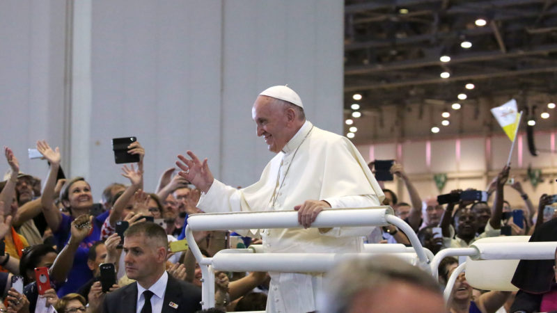 Le pape François à Palexpo | © Bernard Hallet.