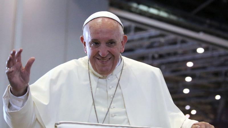 Le pape François à Genève, lors de la messe à Palexpo | © Bernard Hallet