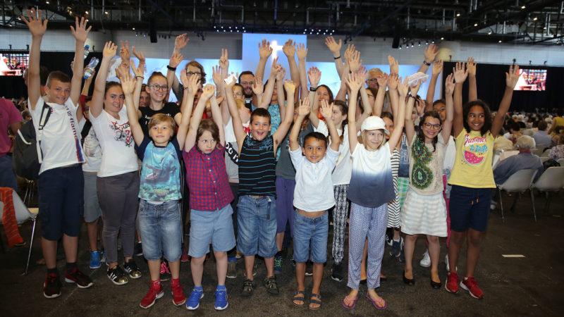 Les jeunes de l'Ecole catholique du Chablais ont mis l'ambiance. | © B. Hallet