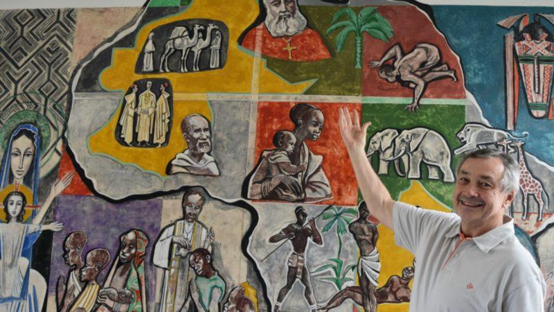 Fribourg  Père Gérard Chabanon, Provincial d'Europe et ancien Supérieur général des Pères Blancs, à l'Africanum, | © Jacques Berset