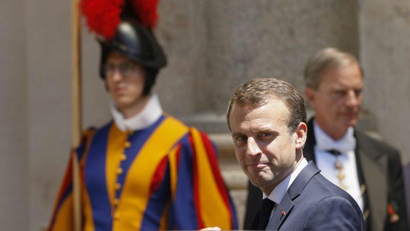 Emmanuel Macron est arrivé au Vatican le 26 juin 2018 | © MAXPPP Riccardo de Luca/Keystone