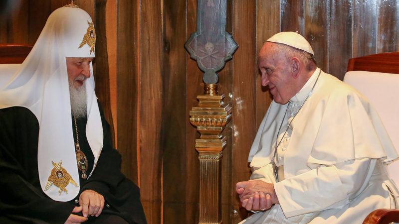 Rencontre historique entre le patriarche Cyrille et le pape François à La Havane, le 12 février 2016 |© Keystone / A. di Meo
