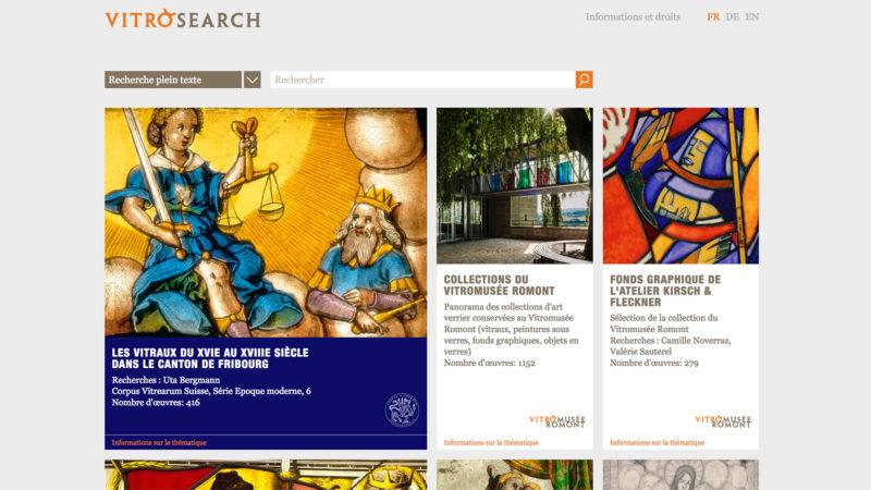 vitrosearch.ch, une base de données lancée en décembre 2017 par Vitrocentre | capture d'écran