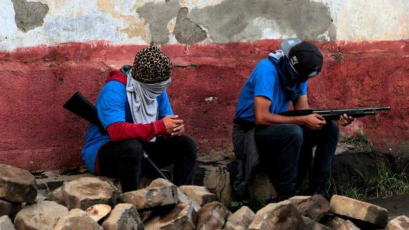 A Masaya, au sud-est de Managua, des manifestants armés Capture d'écran RTVE