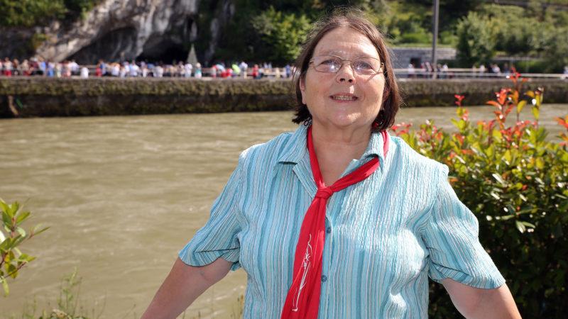 Christiane est venue avec un groupe de Fratello au pèlerinage de la Suisse romande à Lourdes.   © B. Hallet