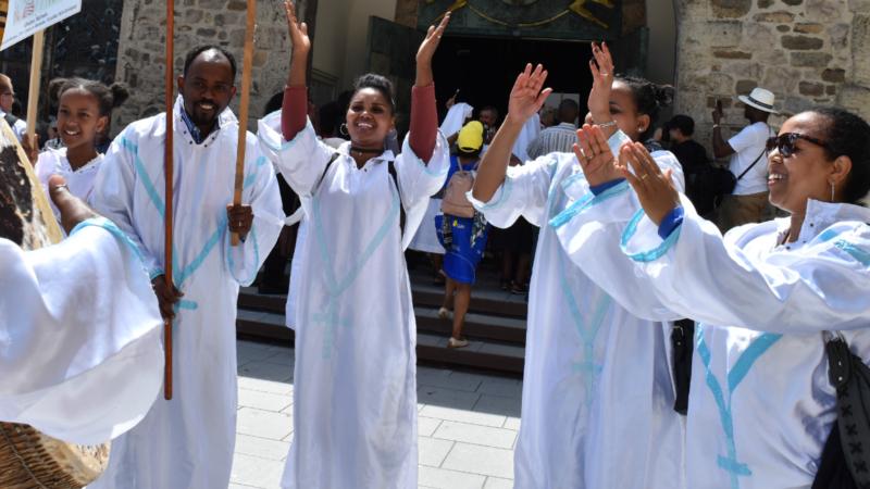Malgré les violences en Afrique de l'Est, Ethiopiens et Erythréens expriment leur foi avec joie et exubérance | © Jacques Berset
