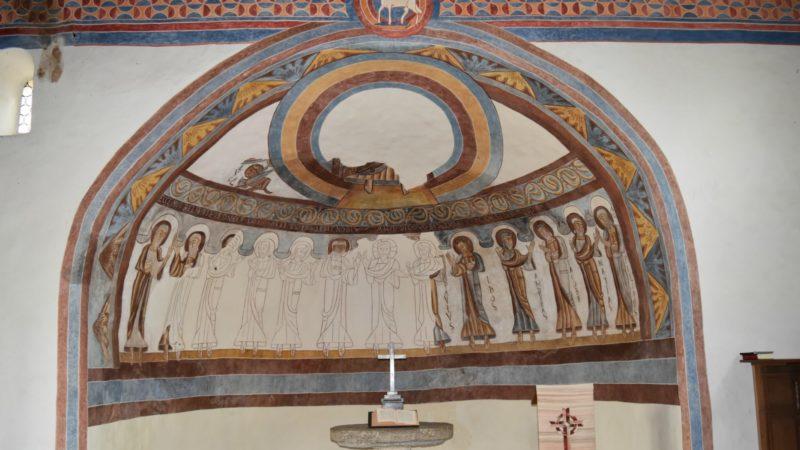 Montcherand, près d'Orbe  Les fresques romanes dans le choeur de l'église réformée, ancien Prieuré Saint-Etienne | © Jacques Berset