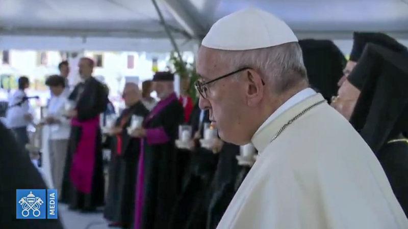 A Bari, le pape François prie pourla paix avec les patriarches orientaux | capture d'écran Vatican Media