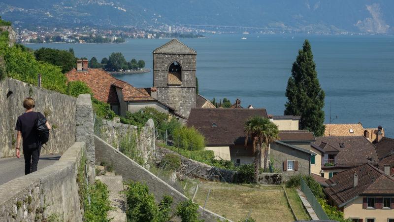 St-Saphorin en Lavaux se donne des airs de Provence ou d'Italie    © Maurice Page