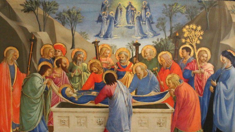 La Dormition de la Vierge, par Fra Angelico | Miguel Hermoso Cuesta wikipedia