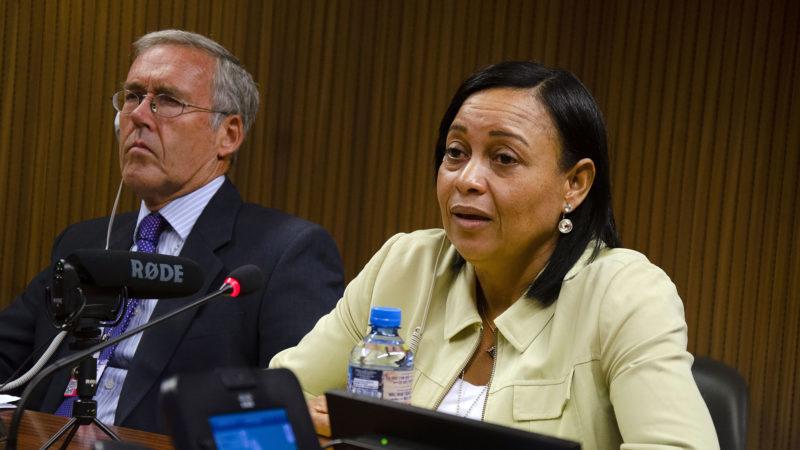Maria Magdalena Alvarez Galvez, de République dominicaine, a témoigné à l'ONU de la violation des droits de l'homme dans son pays. | © Myriam Lariche