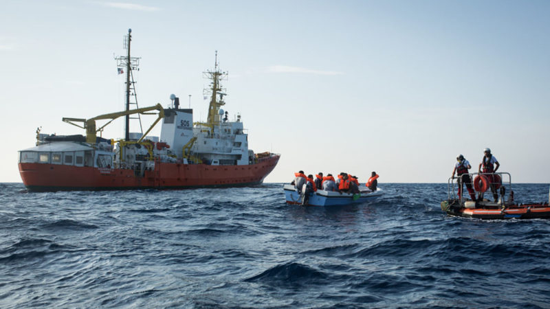 SOS Méditerranée Suisse a affrété l'Aquarius en février 2016. | © Maud Veith/SOS MEDITERRANEE