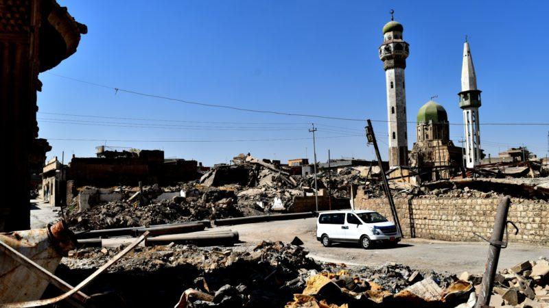 Mossoul Paysage de désolation après les bombardements de la vieille-ville | © Jacques Berset