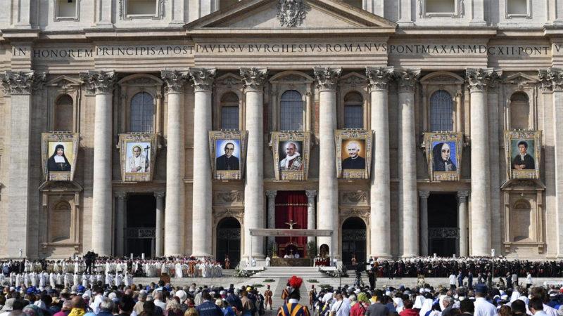 Le Pape François a canonisé, ce dimanche 14 octobre 2018, sept Bienheureux | © Vatican news