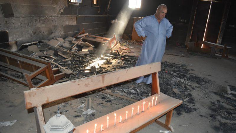 Toutes les églises de Qaraqosh ont été dévastées par les djihadistes de Daech | © Jacques Berset