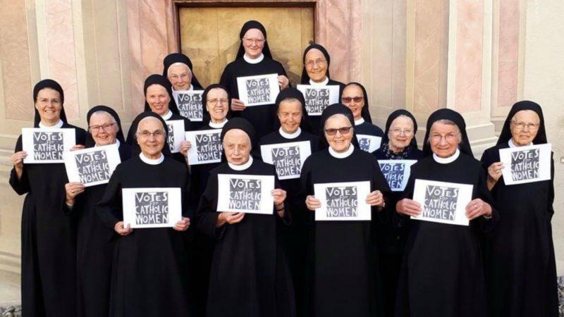 Des religieuses de l'abbaye de Fahr (AG) se mobilisent pour le vote des femmes au synode (Photo:Facebook)