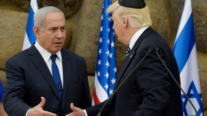 Le premier ministre israélien reçoit le président Trump en 2017 à Yad Vashem | © Keystone/epa/Debbie Hill
