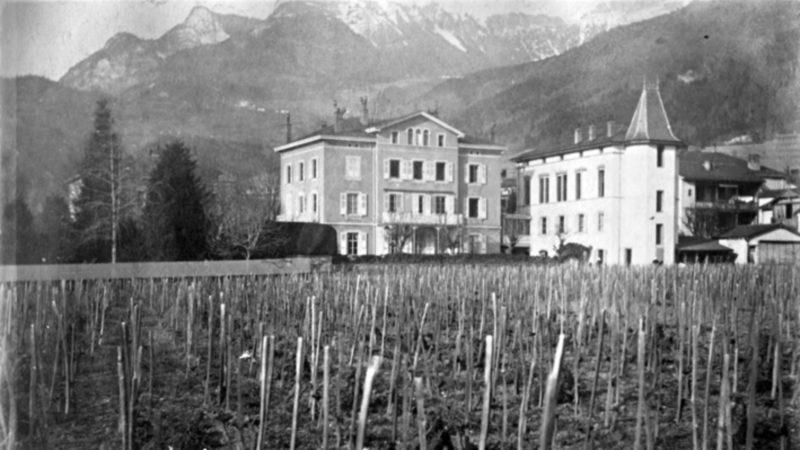 Le pensionnat Sainte-Clotilde, à Aigle, avait été fondé en 1881 (Photo:notrehistoire.ch)