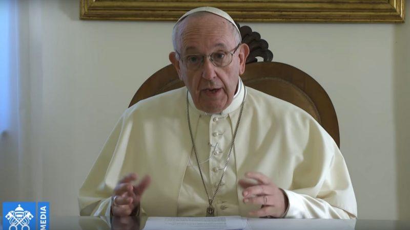 Le pape François a adressé un message vidéo aux participants d'un festival sur la doctrine sociale de l'Eglise   capture d'écran / Vatican Media