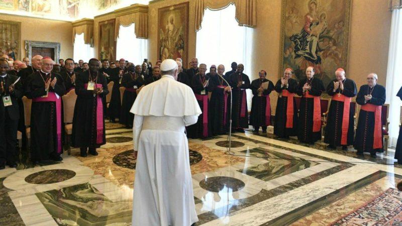 Le pape a reçu les participants à l'assemblée plénière du Comité pontifical pour les Congrès eucharistiques, le 10 novembre 2018   © Vatican Media