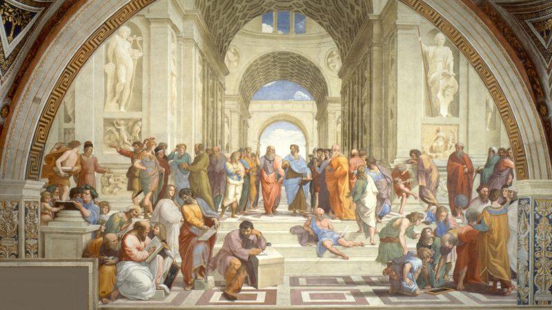 Extrait de 'L'école d'Athènes' par Raphaël, Musées du Vatican