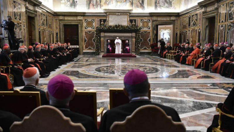 Le pape François lors de ses voeux à la Curie romaine, le 21 décembre 2018 | © Vatican Media