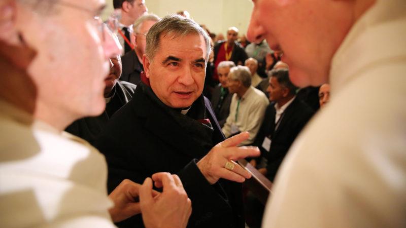 Le cardinal Angelo Becciu, préfet de la Congrégation pour les causes des saints | © B. Hallet