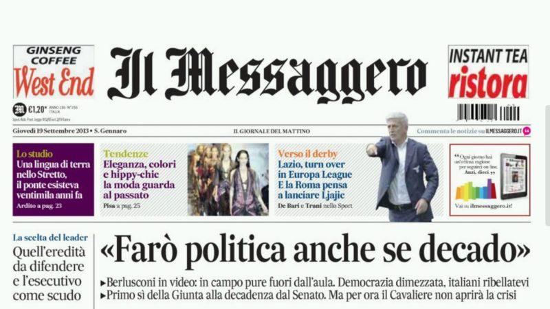 Le quotidien italien 'Il Messagero'
