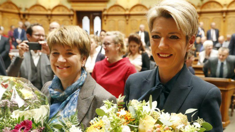 L'élection de deux femmes au Conseil fédéral a provoqué des commentaires dithyrambiques | © Ruben Sprich/Keystone