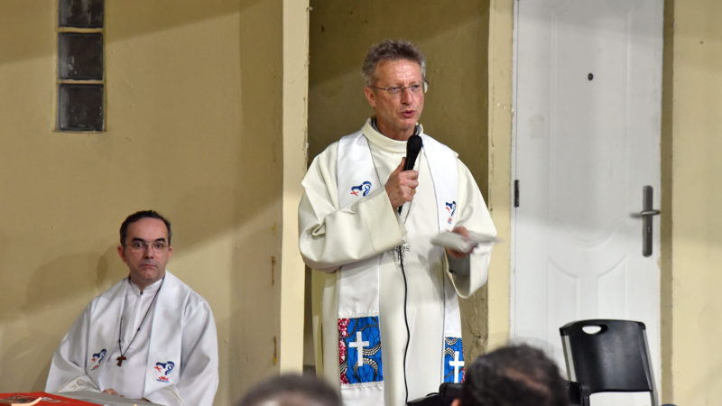 JMJ - Messe au Colegio Europeo Panamá: temps de prédication   © Grégory Roth