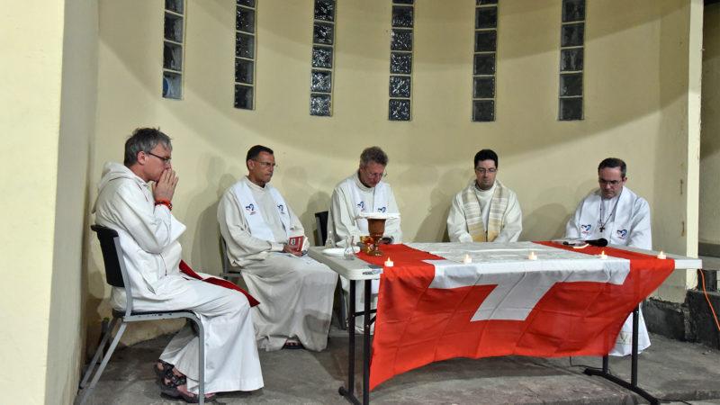 JMJ - Messe au Colegio Europeo Panamá: temps d'action de grâce   © Grégory Roth