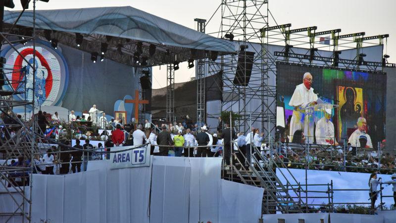 JMJ: cérémonie d'accueil du pape à Panama |©Grégory Roth