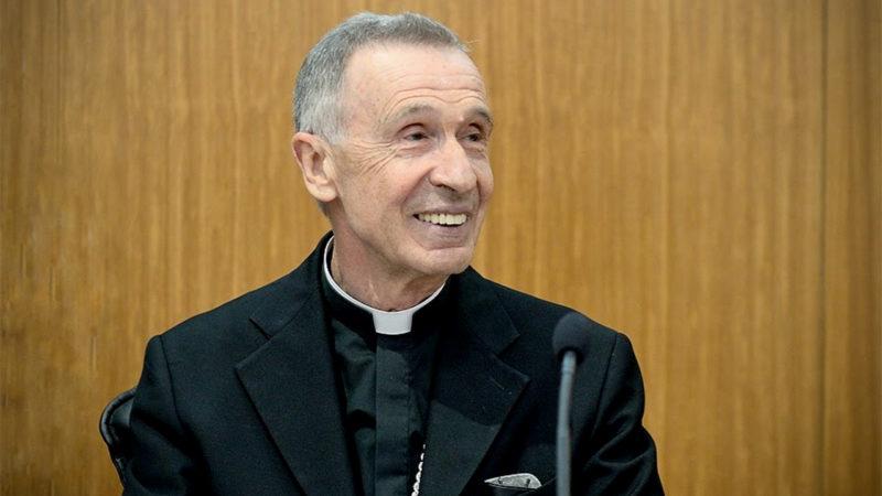 Mgr Luis F. Ladaria Ferrer, préfet de la Congrégation pour la doctrine de la foi, a fait le déplacement. | Capture écran