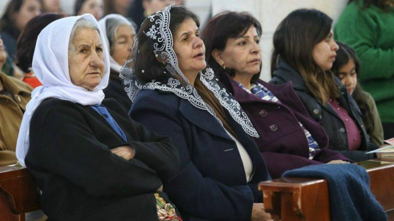 Les chrétiens palestiniens assistent à la messe de la Coordination de Terre Sainte   © ODAYDAIBES Patriarcat latin de Jérusalem