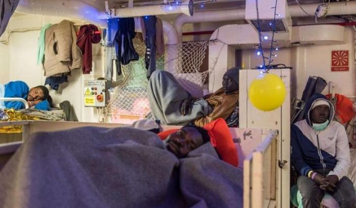 Les migrants doivent rester à bord du Sea-Watch et ne peuvent débarquer | ©  www.santegidio.org