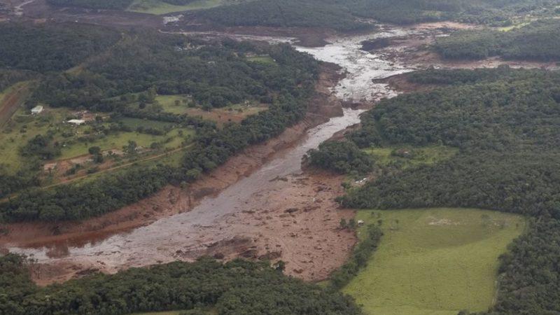 La rupture d'un barrage minier, à Brumadinho, a ravagé tout une zone au Brésil |  DR