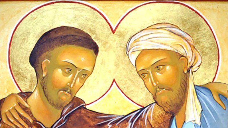 Quand saint François rencontrait le sultan al-Kamil en 1219 (Icône originale: Fr. Stéphane/monasteredugairire.org/DR)