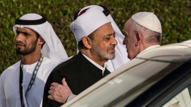 A Abu Dhabi, le pape a rencontré Ahmed Al-Tayeb, grand imam d'Al-Azhar | © dpa Gehad Hamdy/Keystone