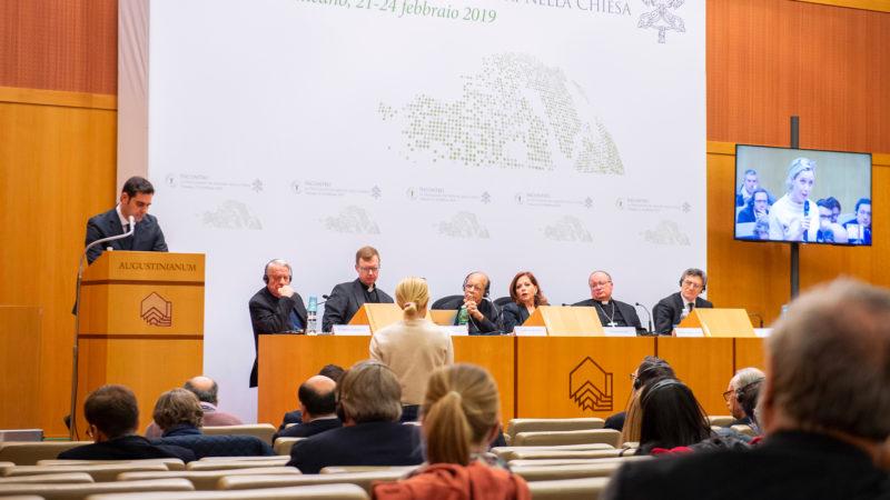 Conférence de presse à l'issue du sommet sur la protection des mineurs   ©Antoine Mekary   ALETEIA   I.Media