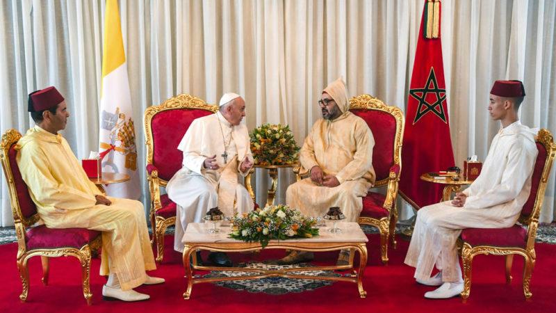 Le pape François et le roi du Maroc Mohammed VI, le 30 mars 2019   © Keystone