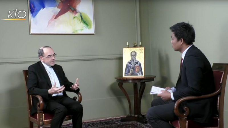 Le cardinal Philippe Barbarin répond aux questions de KTO | capture d'écran KTO