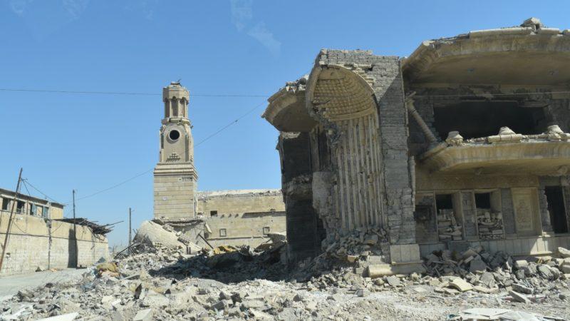 Mossoul Les églises de la vieille-ville ont été détruites par les bombardements des forces alliées | © Jacques Berset
