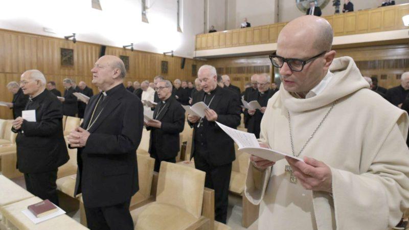 Retraite avec Dom Bernardo Francesco Maria Gianni, dans la chapelle de la Maison du Divin Maître à Ariccia  | © Vatican Media