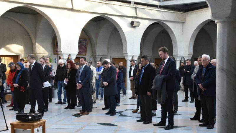 Une assemblée interreligieuse a rendu hommage aux victimes de Christchurch à la mosquée de Genève | © R.Zbinden